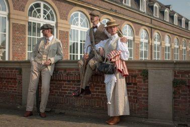 Ausflug nach Nordkirchen - 3 Personen in Steampunk-Kleidung