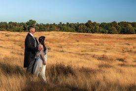 Hochzeitspaar auf Wiese - jenseits von afrika