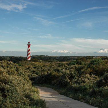 Blick zum Leuchtturm in Zeeland