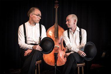 Swingtime - Frank und Claus vor dem Kontrabass