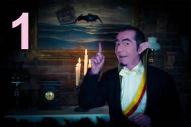 Count Count zählt eine Fledermaus