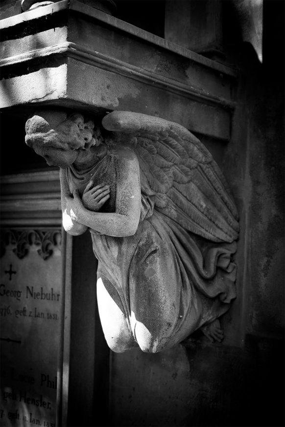 Friedhofsengel auf dem alten Friedhof in Bonn