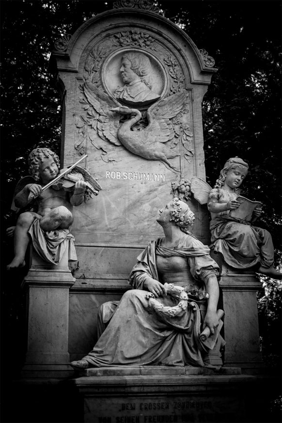 Grabstätte von Rob Schumann auf dem Friedhof in Bonn